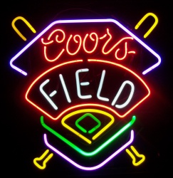 Coors Field Baseball Neon Beer Bar Sign Light  MY BEER SIGN COLLECTION – Not for sale but can be bought… coorsfield