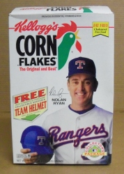 Kelloggs MLB Nolan Ryan Cereal Box