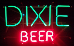 Dixie Beer Neon Bar Sign Light  MY BEER SIGN COLLECTION – Not for sale but can be bought… dixiebeer