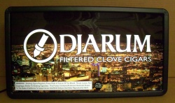 Djarum Cigarettes Lighted Sign