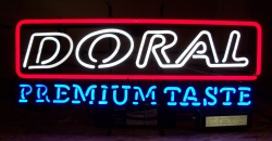 *NEW NOVEMBER LIST* Doral PremiumTaste Neon Cigarette Sign Light