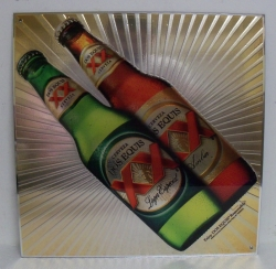Dos Equis Beer Chromium Sign