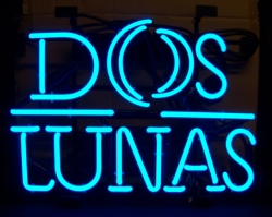 Dos Lunas Tequila Neon Sign