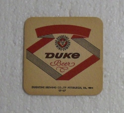 Duquesne Beer Coaster