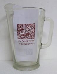 Falstaff Beer Bar Glass Pitcher