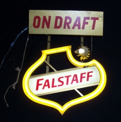 Falstaff On Draft Mini Hanger Neon Beer Bar Sign Light  MY BEER SIGN COLLECTION – Not for sale but can be bought… falstaffondraftminihanger