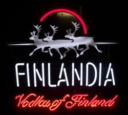 Finlandia Vodka Neon Sign