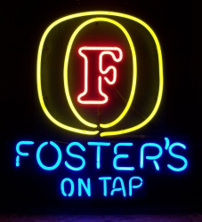 Fosters Lager On Tap Neon Sign