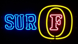 Fosters Lager Surf Neon Sign