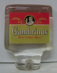 Gambrinus Beer Tap Handle