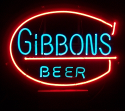 Gibbons Beer Neon Bar Sign Light  MY BEER SIGN COLLECTION – Not for sale but can be bought… gibbonsbeer