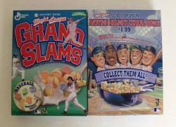 Major League Grand Slams Baseball Cereal Box