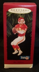 Hallmark Joe Montana #1 Football Legends Ornament