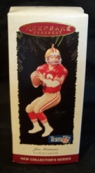 Hallmark Joe Montana Football Legends Collector Series Ornament