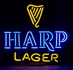Harp Lager Neon Sign