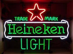 Heineken Light Trademark Neon Beer Bar Sign beer sign collection My Beer Sign Collection 2 – Not for sale but can be bought… heinekenlighttrademark2013