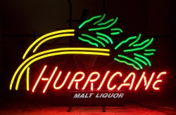 Hurricane Malt Liquor Neon Sign beer sign collection My Beer Sign Collection 2 – Not for sale but can be bought… hurricanemaltliquortrees