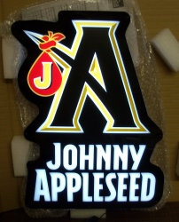 Johnny Appleseed LED Beer Bar Sign Light johnny appleseed led sign Johnny Appleseed LED Sign johnnyappleseedled