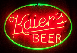 Kaiers Beer Neon Sign beer sign collection My Beer Sign Collection 2 – Not for sale but can be bought… kaiersbeer