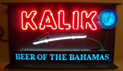 Kalik Beer Neon Sign beer sign collection My Beer Sign Collection 2 – Not for sale but can be bought… kalikbeerofthebahamas