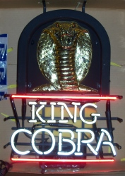 King Cobra Malt Liquor Neon Sign beer sign collection My Beer Sign Collection 2 – Not for sale but can be bought… kingcobrasnake
