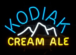 Kodiak Cream Ale Neon Sign beer sign collection My Beer Sign Collection 2 – Not for sale but can be bought… kodiakcreamale
