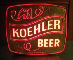 Koehler Beer Lighted Sign beer sign collection My Beer Sign Collection 2 – Not for sale but can be bought… koehlerbeerlight