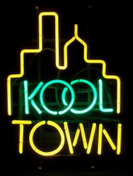 Kool Town Cigarettes Neon Sign beer sign collection My Beer Sign Collection 2 – Not for sale but can be bought… kooltown