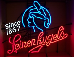 Leinenkugel's Indian Princess Neon Beer Bar Sign Light