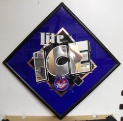 Lite Ice Beer Bar Mirror **No Ship** Lite Ice Beer Bar Mirror **No Ship** Lite Ice Beer Bar Mirror **No Ship** liteicelargemirror