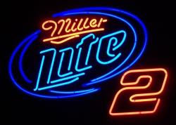 Lite Beer NASCAR Neon Sign