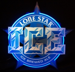 Lone Star Ice Ale Neon Sign