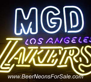 Miller Genuine Draft Beer NBA Lakers Neon Sign