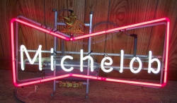 Michelob Beer Bowtie Neon Sign beer sign collection My Beer Sign Collection 2 – Not for sale but can be bought… michelobbowtie