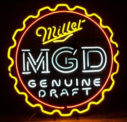 *NEW SEPTEMBER LIST* Miller Genuine Draft Cap Neon Beer Bar Sign Light  **NO SHIP** Miller Genuine Draft Cap Neon Beer Bar Sign Light **NO SHIP** Miller Genuine Draft Cap Neon Beer Bar Sign Light **NO SHIP** millergenuinedraftbottlecap 1