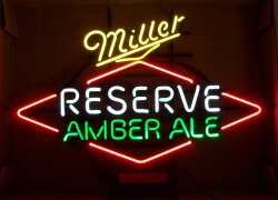 Miller Reserve Amber Ale Neon Sign