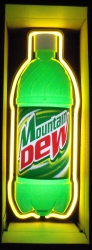 Mountain Dew Bottle Neon Soda Bar Sign Light beer sign collection My Beer Sign Collection 2 – Not for sale but can be bought… mountaindewbottle