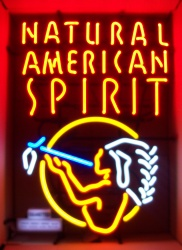 American Spirit Cigarettes Indian Neon Sign  MY BEER SIGN COLLECTION – Not for sale but can be bought… naturalamericanspirit