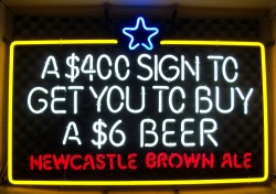 Newcastle Brown Ale Bollocks $400 Neon Beer Bar Sign Light my beer sign collection MY BEER SIGN COLLECTION 2 – Not for sale but can be bought… newcastlebrownale400neon