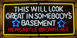 Newcastle Brown Ale Bollocks Basement Neon Beer Bar Sign Light beer sign collection MY BEER SIGN COLLECTION 2 – Not for sale but can be bought… newcastlebrownalebasementneon