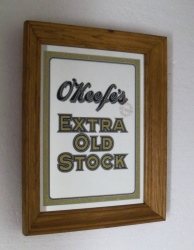 OKeefes Extra Old Stock Beer Mirror