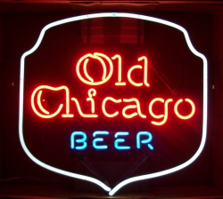 Old Chicago Beer Neon Bar Sign Light my beer sign collection MY BEER SIGN COLLECTION 2 – Not for sale but can be bought… oldchicagobeer