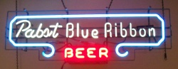 Pabst Blue Ribbon Beer Neon Bar Sign Light my beer sign collection MY BEER SIGN COLLECTION 2 – Not for sale but can be bought… pabstblueribbonbeerlongmine