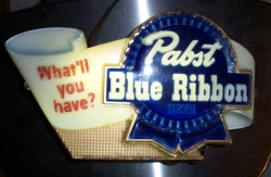 Pabst Blue Ribbon Beer What'll You Have? Lighted Vintage Bar Sign beer sign collection My Beer Sign Collection 2 – Not for sale but can be bought… pabstblueribbonwhatllyouhavelight