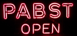 Pabst Open Blue Ribbon Vintage Neon Beer Bar Sign Light my beer sign collection MY BEER SIGN COLLECTION 2 – Not for sale but can be bought… pabstopen