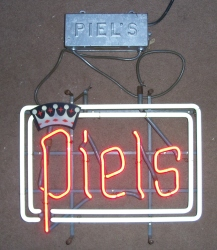 Piel's Crown Hanger Neon Beer Bar Sign Light beer sign collection MY BEER SIGN COLLECTION 2 – Not for sale but can be bought… pielshanger