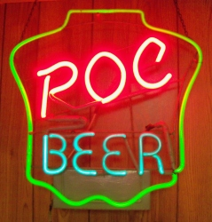 POC Pilsner Of Cleveland Beer Neon Bar Sign Light my beer sign collection MY BEER SIGN COLLECTION 2 – Not for sale but can be bought… pocbeer