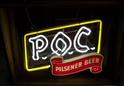 POC Pilsner Beer Cleveland Neon Bar Sign Light my beer sign collection MY BEER SIGN COLLECTION 2 – Not for sale but can be bought… pocpilsnerbeer