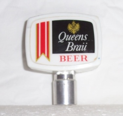 queens brau beer tap handle