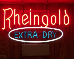 Rheingold Extra Dry Neon Beer Bar Sign Light beer sign collection MY BEER SIGN COLLECTION 2 – Not for sale but can be bought… rheingoldextradry